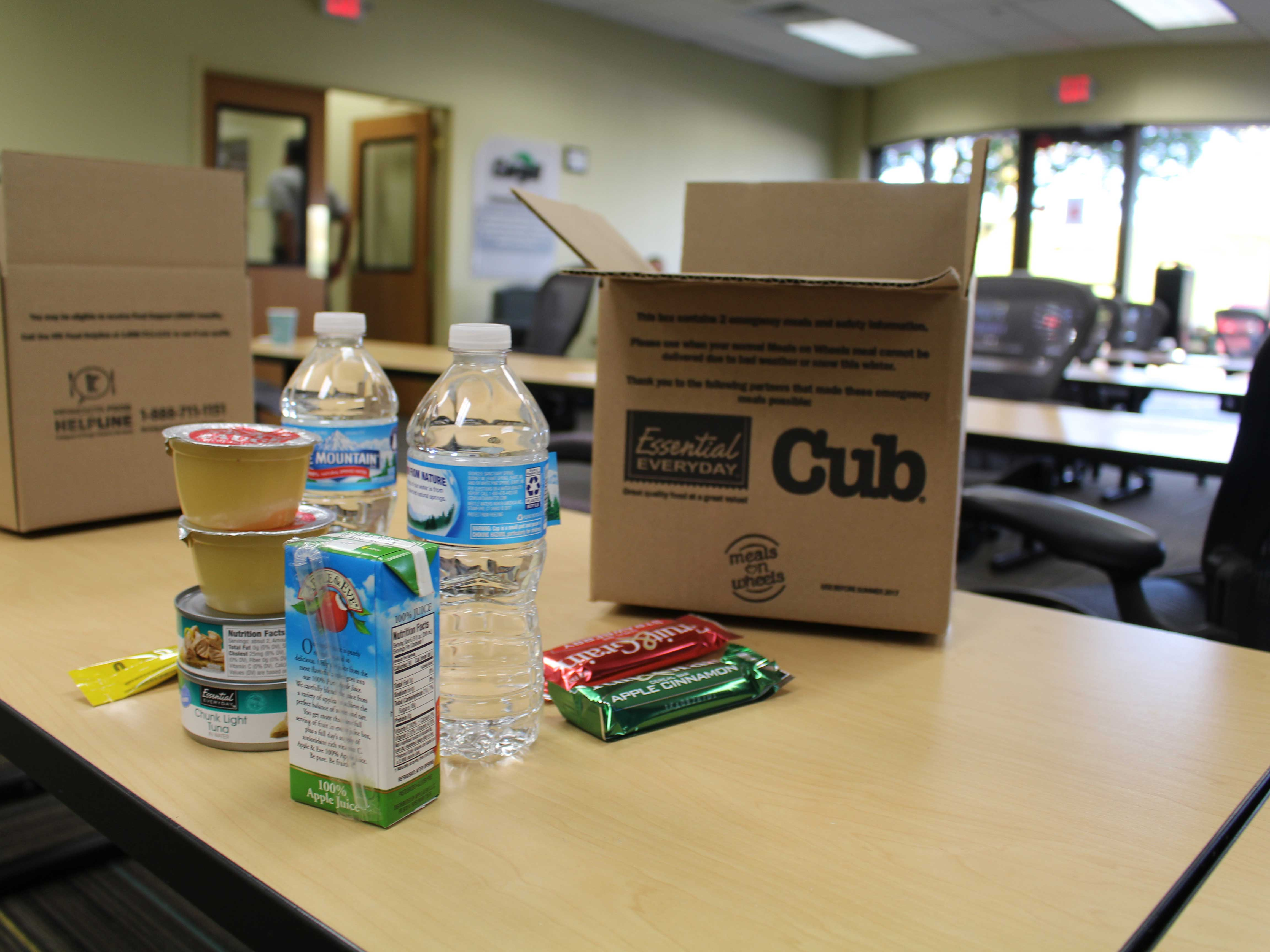 Twin Cities Meals on Wheels programs provide Blizzard Boxes (emergency meals) to recipients in the fall.