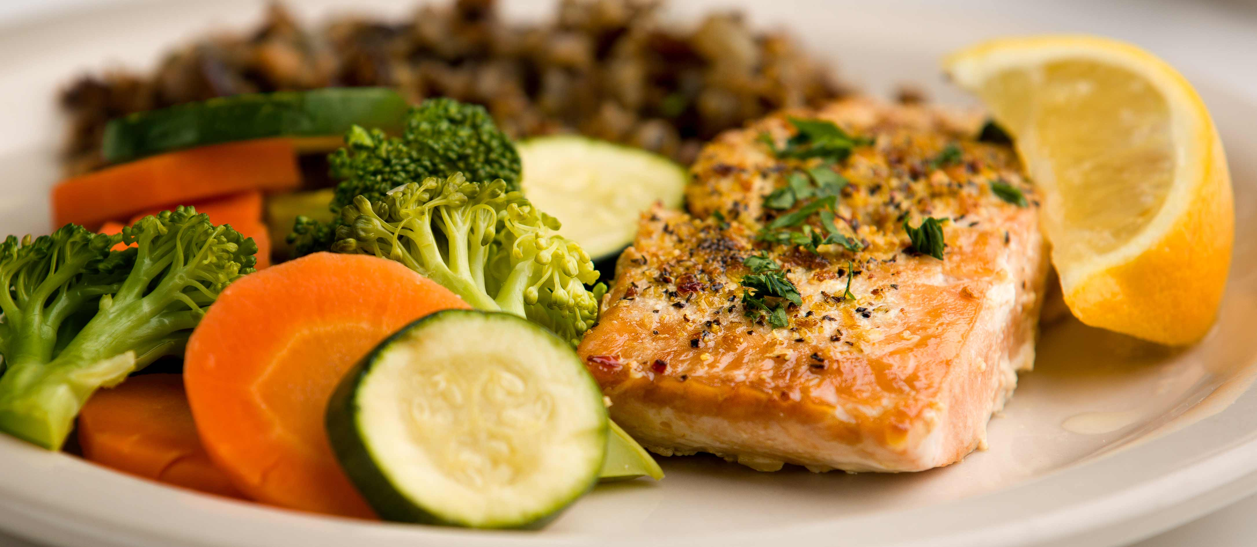 Meals on Wheels salmon meal