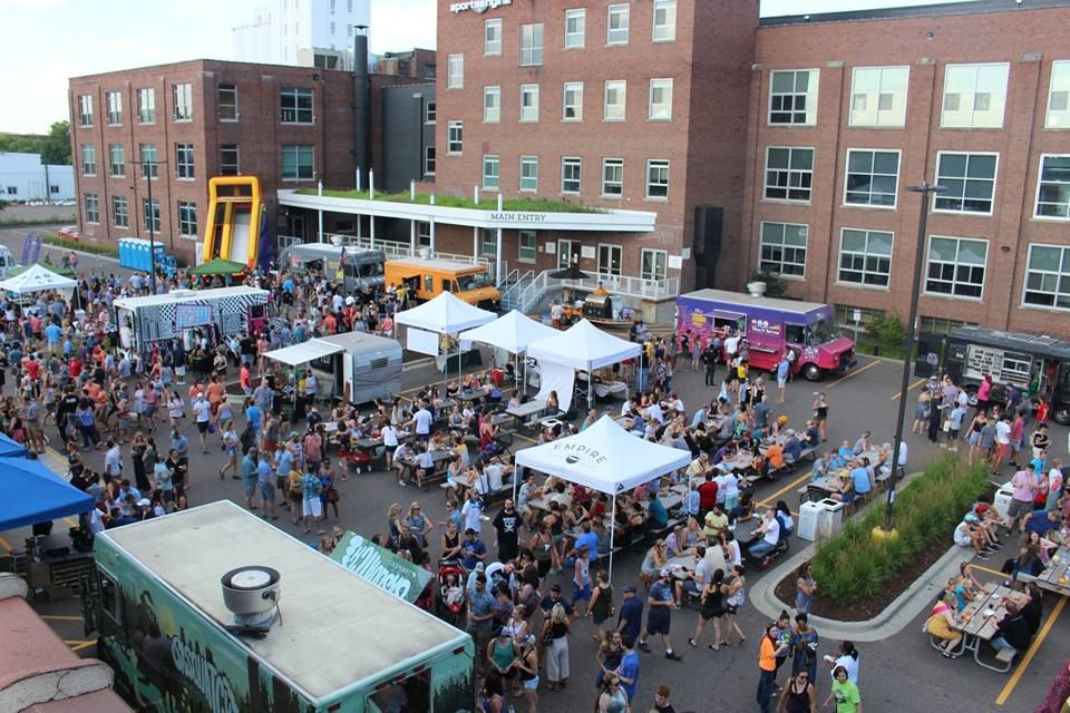 Food Truck Rally aerial view