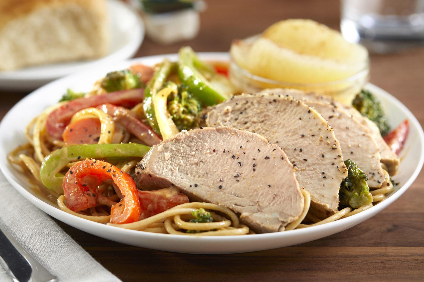 Sesame Noodles and Pork